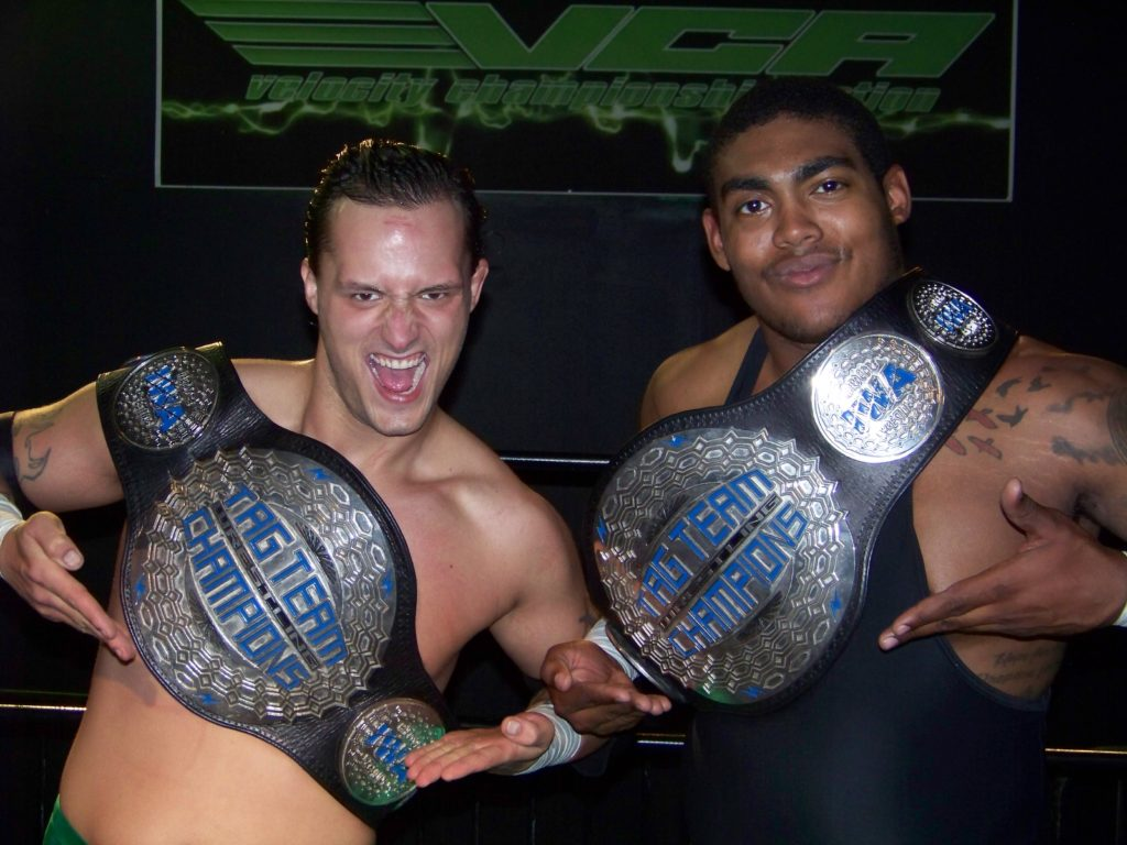 <center>VCA Tag Team Champions The Brotherhood<center>